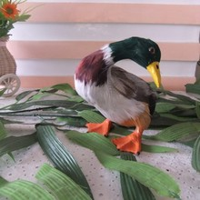 small cute simulation artical duck toy lifelike duck doll home decoration gift about 14x12.5cm