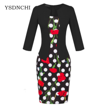 Buy Brand Elegant Women Formal Bodycon Cotton Dress Girl Pencil Flower Dress Female Office Sashes Woman Work Tartan Clothes S122 for $9.01 in AliExpress store