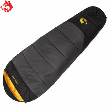 New arrival winter cold weather pitching sleeping bag Grey/Orange/Blue 1.7kg outdoor hiking camping sleeping bag(China)