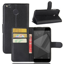 Buy Xiaomi Redmi 4X Case High Flip Phone Cover Bags Wallet Lichee Pattern PU Leather Case 9 Colors Card Slots Stand for $3.99 in AliExpress store