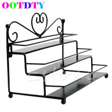 OOTDTY Metal Holder Nail Polish Organizer Holders Table Top 3 Tier Display Rack Storage Design APR11_10