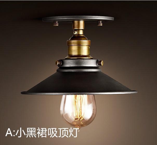 A1 Loft gear restaurant coffee bar pendant lamps  creative personality retro American industrial wind hanging wardrobe lamps<br>