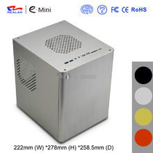 mini-ITX Chassis HTPC, aluminum, USB3.0, 3.5''HDD, Support Stand Power, mini case of HTPC, WIFI COM PCI Audio Ports, Realan D5S