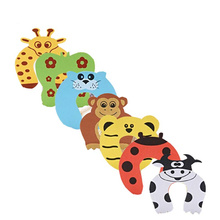 Baby Safety Cute Cartoon Animal Jammers Stop Edge & Corner for Children Guards Door Stopper Holder Lock Safety Finger Protector