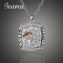 2015 Denver Broncos Rugby Super Bowl Championship Necklace For Fans