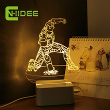 CNHIDEE USB Novelty Modern Home Decor Little iron Man 3D Night Lights Dimmable Table Lamp as Creative Gifts for CHildren(China)