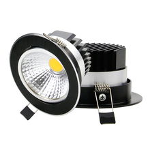 Super Bright Dimmable LED Downlight COB 5W 7W 9W 12W LED Ceiling Recessed Lights Black Spot Light Indoor down lamp Lighting
