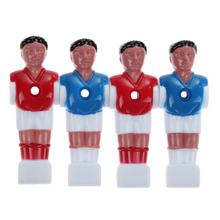 (4 pieces/set) Soccer Tables Player Football Table Parts Cork Foosball Board Game Soccer Ball Table Football 2 Red & 2 Blue