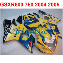 Yellow blue gsxr 600 Fairing kit For Suzuki 750 2004 2005 04 05 ( 100%New) High quality fairings free EMS m31