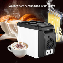 Excelvan Car Mini Fridge Portable 12V 6L Auto Travel Refrigerator Quality ABS Multi-Function Home Cooler Freezer Warmer