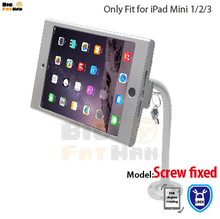 tablet pc display flexible gooseneck wall mount holder stand for iPad mini1 2 3 security safe locked metal box support arm(China)