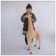 simulation giraffe doll large 140cm plush toy ,home decoration toy surprised birthday gift h2909(China)