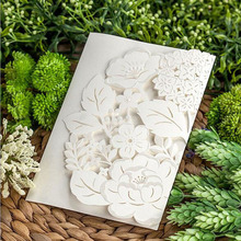 1pcs Sample White Laser Cut Hollow Flower Marriage Wedding Invitation Cards 3D Card Greeting Cards Postcard Event Party Supplies