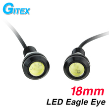 1pcs 18MM Led Eagle Eye DRL Daytime Running Lights Source Backup Reversing Parking Signal Lamps Waterproof Free Shipping