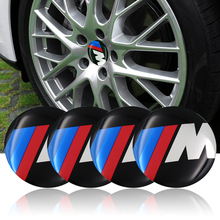 4PCS Car Aluminium M Performance Wheel Hub Center Caps Emblem Styling M Logo Wheel Sticker For BMW 1 3 5 7 Series X1 X5 X6 E39