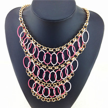 Statement Necklace 2015 Hot Sale Women New Jewelry Pendant Necklaces Brand Of Leveling Design Accessories Resin Fashion Necklace(China)