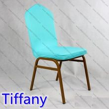 Tiffany colour Lycra chair cover cover half of the chair from top to seat spandex top cover wedding party decoration on sale