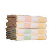 (5piece/lot )Grid 100%Cotton Face Towel For Childern Baby Rectangle 25x25cm In Bathroom Factory Direct(China)