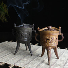 YXY New Multifunction Ceramic Craft Mini Tripod Antique Glaze Incense Burner Sandalwood Censer Coil Incense Burner Home Decor(China)