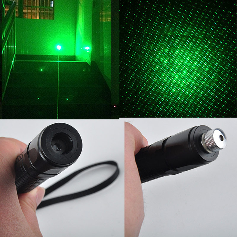 High quality 532nm Green Laser Pen, Starlight laser flashlight, Laser Pointer, Burning Beam use 18650 Battery + Charge<br>