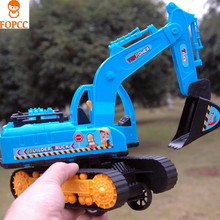 2017 new Children's Beach House large Excavator Dynamic Inertia Truck Creative Big Size Toy Excavator And Crane lnteresting(China)