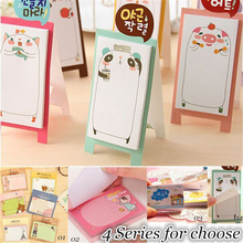 NEW Korea Stationery Pretty Kawaii Cartoon Sticker Post It Bookmarker Memo Pad Flags Sticky Note ON003(China)