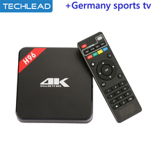 H96 Android TV Box with iview hd iptv subscription arabic UK IT italian Sports tv channels list apk Russian Greek USA turkey TV