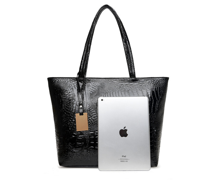 Brand Fashion Casual Women Shoulder Bags Silver Gold Black Crocodile Handbag PU Leather Female Big Tote Bag Ladies Hand Bags Sac 10