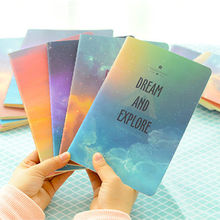 4 Pcs/lOT Space Starry Sky Series Cover Notebook A5 Notepad Creative Hardcover Thin Sketchbook Beautiful Diary Book Student Gift(China)