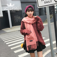 [FEILEDIS]2017 new listing cartoon cashmere scarf pocket design unique double-sided shawl scarf FD170(China)