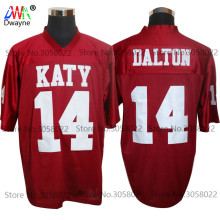 2017 Cheap American Football Jerseys Red Andy Dalton 14 Katy High School Throwback jerseys Retro Stitched Shirts
