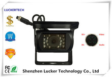 Luckertech 4Pin Aviation Plug IP67 Waterproof Camera 520TVL DC9V-36V NightVision Backup RearView EngineeringVehicel truck / bus(China)