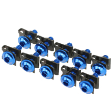 10x Aluminum Blue M6 Motorcycle Windscreen Fairing Bolt Spire Speed Clips Washer Kit Body Screws Fastener Nuts Fairing Sportbike(China)