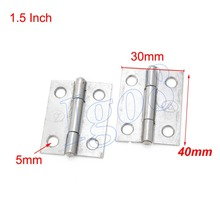 "20PCS 1.5"" Metal Butt Hinges Cabinet Hinge 40 x 30 x 5mm"