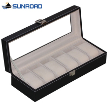 2017 Watch Jewelry Box 6 Grids Leather Watch Box Jewelry Dispay Box Watches Case Jewelry Storage Organized cajas para relojes