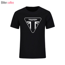 2017 NWE Summer TRIUMPH T Shirts MOTORCYCLE Classic Tour Flag Logo Men's T-Shirt Casual Designs Tee Shirts