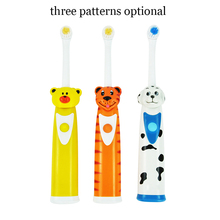 Cute Cartoon Children Electric Toothbrushes Rotation 3pcs Brushhead Kids Oral Hygiene Electric Massage Teeth Care Electric Brush(China)