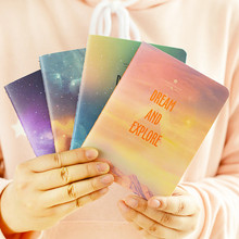 4 pcs/lot Fantastic Galaxy Star Sky A6 Notebook Diary Book Exercise Composition Notepad Escolar Papelaria Gift Stationery(China)