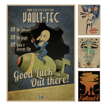 Fallout Series Game retro Poster Retro Kraft Paper Bar Cafe Home Decor Painting Wall Sticker(China)