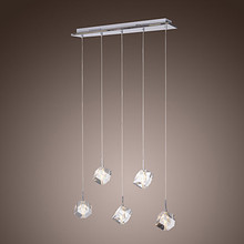 K9 LED Modern Crystal Pendant Light Lamp with 5 Lights For Dinning Room, Lustres e Pendentes ,Lustre De Cristal Free Shipping