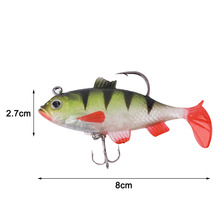 1Piece 11g 8cm Fishing lures sea fishing tackle soft bait luminous lead fishing artificial bait jig wobblers rubber silicon lure