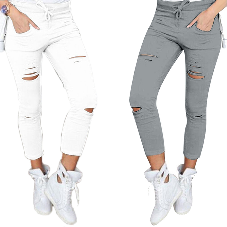 Women's Hollow Solid Cotton Leggings 12
