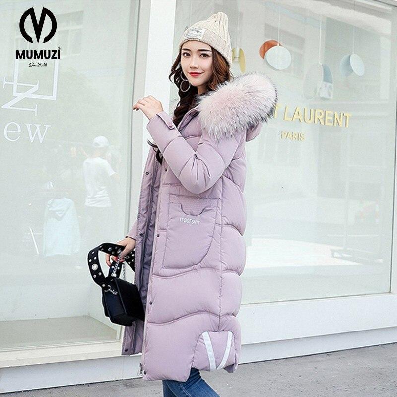 New Big Fur Collar Winter Parka High Quality Zipper Hooded Long Jacket Female Thick Warm White Duck  Women Coat 2017Îäåæäà è àêñåññóàðû<br><br>