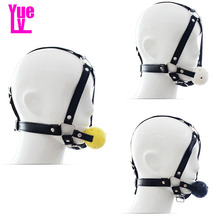 Buy YUELV Fetish Ball Gag Head Harness Bondage Restraint Slave Mouth Gag Cosplay Flirting Adult Game Sex Products Women Couples