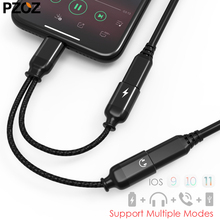 Buy pzoz 2 1 iphone 7 splitter cable Lightning Jack Aux Audio Converter Headphone charger adapter iphone 8 plus x for $7.49 in AliExpress store