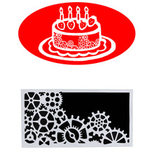 1pcs Cake Mold Gear Pattern Baking Mold Stencil Fondant Template Cake Making Decorating Tools Bakeware