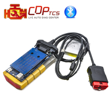 2018 Gold color CDP TCS cdp pro plus Bluetooth 2015.R3 keygen software OBD 2 OBDII scanner OBD2 cars trucks diagnostic tool(China)