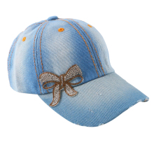 wholesale boy girl kids cool best snapback hip hop strapback hats 54 CM children rhinestone bowknot custom baby baseball cap(China)