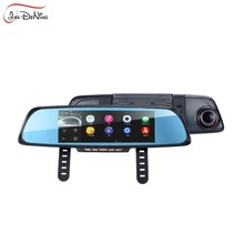 JanDeNing 6.86'' Touch Screen RAM 1GB 2 Split View Android GPS Navigation Mirror Car DVR Dual Lens Camera Rear Parking WiFi FM