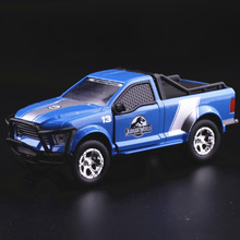 10pcs/lot Brand New JADA 1/43 Scale Car Toys Jurassic World Rescue Truck G550 4x4 SUV Diecast Metal Car Model Toy